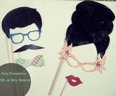 Photo Booth props Retro