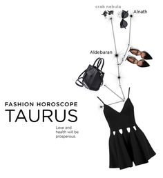 """""""Fashion Horoscope: Taurus"""" by sharmarie ❤ liked on Polyvore featuring Le Specs, Zara and Rebecca Minkoff"""