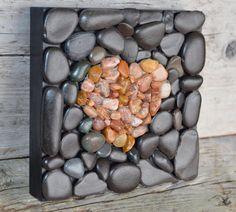 CORAZÓN de piedra arte rupestre arte por BeachMemoriesByJools