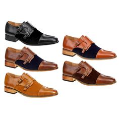 7cbdbc055b2 UV Signature Men s Monk Strap Cap Toe Dress Shoes