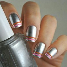 Metallic Nail Design ❤