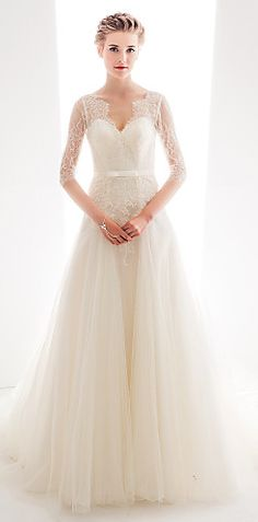 lace and tulle gown