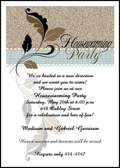 Find creative housewarming party invitations wording samples ideas flourish leaf design housewarming party invitations at invitationsbyu card number 7667ibu hi and find special discounted prices and other special stopboris Gallery