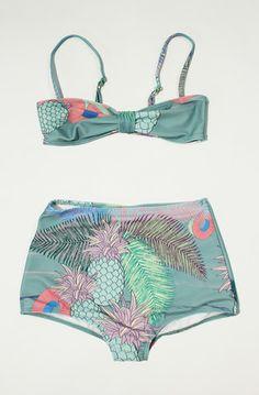 Jungle Bikini -Tropica Twilight (green) by DIAZ