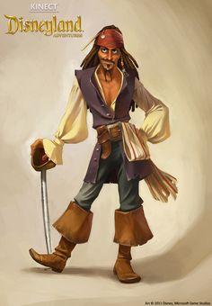 Kinect Disneyland Adventures - Jack Sparrow by *shoomlah on deviantART