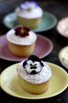 Clemmensen and Brok: All around A Little Pistachio Cake and some Pansies.