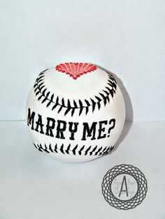 Proposal Engagement Customized Baseball by ApesCustomPhotoProps