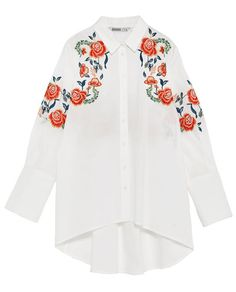 FLORAL EMBROIDERY SHIRT-View All-TOPS-WOMAN | ZARA United Kingdom