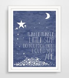 Items similar to Twinkle Twinkle Little Star Do You Know How Loved You Are - Navy Blue Nursery Wall Art Print - Baby Wall Art on Etsy Space Themed Nursery, Baby Boy Nursery Themes, Baby Boy Nurseries, Nursery Ideas, Outer Space Nursery, Room Ideas, Baby Wall Art, Baby Room Art, Nursery Wall Art