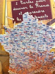 Les cartes de France en plastique avec les départements et les fleuves