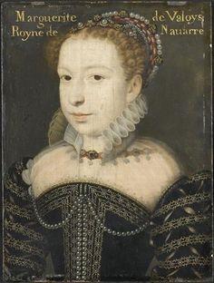 Marguerite de Valois - 'la reine Margot' -  (b.1553 - d.1615)