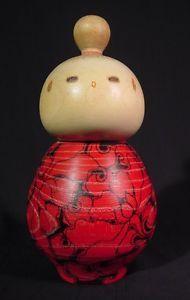 Vintage-Sosaku-Kokeshi-Doll-Bold-Magnolia-Issetsu-Kuribayashi