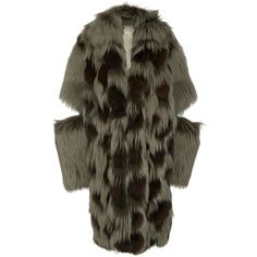 Michael Kors Collection Leopard Intarsia Fur Duffle Coat (€23.615) ❤ liked on Polyvore featuring outerwear, coats, green, leopard coat, michael kors, green coat, fur sleeve coat and green fur coat