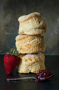 Scones, serve with strawberry jam and clotted cream ( or soft, salted good butter)