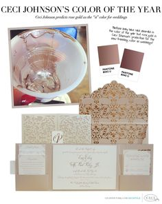 Ceci Johnson's Color of the Year - Ceci Johnson predicts rose gold as the 'it' color for weddings