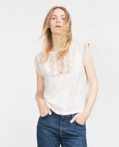 ZARA - WOMAN - LACE T-SHIRT