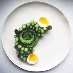 Asperagus egg avacado