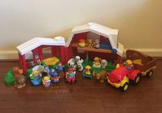 Lot of Fisher Price Little People Figures Animals Sounds Barn Tractor 28 Pcs | eBay