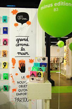 """Minus Éditions à Playtime Paris - """"Minus, des livres qui font du lien"""" pour enfants et parents qui aiment les cahiers-livres pleins d'humour décalé • Ma Sérendipité"""