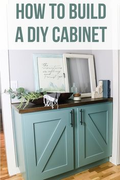 DIY Hallway Cabinet Tutorial (NO complicated joinery) - Making Manzanita - We designed this cabinet build with a beginning woodworker in mind because it doesn't have any of - Diy Storage Cabinets, Built In Cabinets, Entryway Storage Cabinet, Diy Cabinet Doors, Kitchen Cabinets, Woodworking Furniture, Diy Furniture, Woodworking Projects, Woodworking Plans