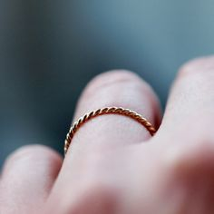 beautiful gold ring: elegant and simple