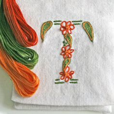 DIY .pdf pattern Monogram T  Difficulty Level: beginner  A perfect first time embroidery project. Learn 4 crewel embroidery stitches.  This paisley monogram is part of a series of monograms available. Find Your Monogram https://www.etsy.com/shop/PrairieGarden?section_id=11333436 Pattern includes: • traceable pattern • step by step stitch guide • stitch directions with color photos • fiber color chart for all monograms  Finished dimensions: 3 x 3 inches  Create a jewel...