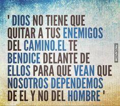 Reflexiones - Dios no tiene que quitar a tus enemigos del camino...