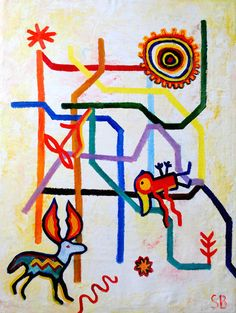 Original Oil Painting 'Subway Visions I Mexico City' by SBGallery, $420.00