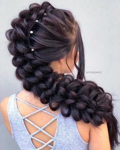 Wedding Hairstyles For Long Hair, Box Braids Hairstyles, Latest Hairstyles, Pretty Hairstyles, Short Hair, Curly Hair Styles, Natural Hair Styles, Cool Braids, Crazy Hair