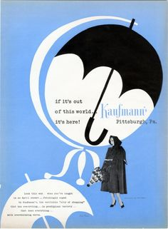 Paul Rand ::: Advertisement for Kaufmann's department store, designed by Paul Rand (Private collection)