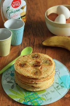 Pancakes light aux rondelles de banane