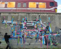 This piece is Big Gun by Steve Locatelli in Antwerp, Belgium. Although I didn't take this photo I can highly recommend Belgium for its street art and graf scenes!