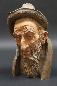""" The Miser "" carved by Emil Janel circa 1967"