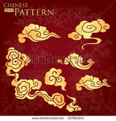 chinese traditional clouds pattern by flyinglife, via Shutterstock