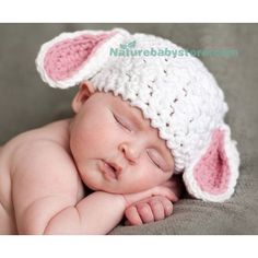 Naturebabystore.com Handmade Sheep Baby Woolen Hat. For baby and photographer, best apparel for baby photo shooting!