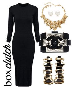 simply clutched by senciti on Polyvore featuring WithChic, Giuseppe Zanotti, Chanel, Oscar de la Renta, Tiffany & Co., women's clothing, women's fashion, women, female and woman