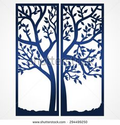 Two Fold wedding invitation template with tree. Suitable for laser cutting…