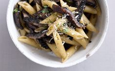 Penne with Grilled Portabellas and Pecorino