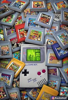 Game Boy Legacy - Created by An amazing piece of nostalgia. Retro Videos, Retro Video Games, Video Game Art, Retro Games, Game Boy, Nostalgic Pictures, Game Wallpaper Iphone, Best Gaming Wallpapers, Nintendo Games