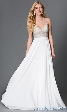 Spaghetti Strap Open Back JVN by Jovani Prom Dress with Beading