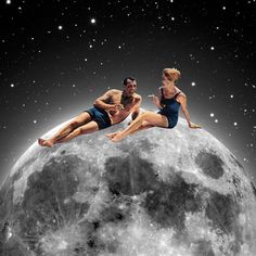 """By Artist Steven Quinn; Digital 2013 Collage """"Smoking on the moon""""~♛ Full Moon In Libra, Full Moon Phases, Moon In Leo, Virgo Moon, Blood Moon Lunar Eclipse, Full Moon Eclipse, December Full Moon, Next New Moon, Moon Photography"""