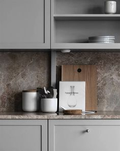 TDC: Understated elegance in grey, beige and brown Beige Kitchen, Ikea Kitchen, Kitchen Pantry, Kitchen Decor, Kitchen Cabinets, Kitchen Walls, Kitchen Layout, Home Interior, Kitchen Interior