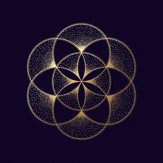 Flower Of Life Symbol, Flower Of Life Tattoo, Mandala Art, Logo Fleur, Art Fractal, Cool Optical Illusions, Geometric Symbols, Muster Tattoos, Magic Design
