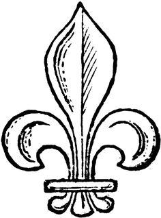 Fleur de lys de la royauté française