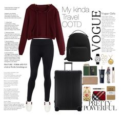 """""""My kinda fashion: Solo University Student Travel Edition"""" by minalis on Polyvore featuring Gucci, Rimowa, MANGO, Ted Baker, Burberry, Royce Leather, Coach, Parker, Byredo and Rosendahl"""