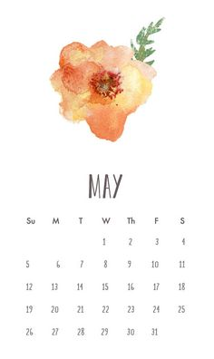 Angie Makes Watercolor Flower on a Calendar Diy Calendar, Calendar Design, Month Of May Calendar, Be Good To Me, Graphic Design Inspiration, Diy Art, Typography Design, Hand Lettering, Illustration Art