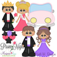 Prom Night SVG Cutting Files Includes Clipart