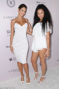 Bria Murphy and her mother Nicole Murphy attended a charity event this weekend together. We remember a time when Nicole was LITE skinned and her daughter was White Frock, White Dress, My Black Is Beautiful, Beautiful People, Nicole Murphy, Eddie Murphy, Sexy Legs And Heels, Family Affair, Sensual