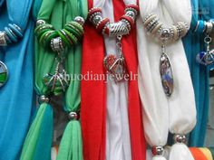 Scarf jewelry Glass Pendant scarves Jewelry scarf Colors Pendant random Mix random not select