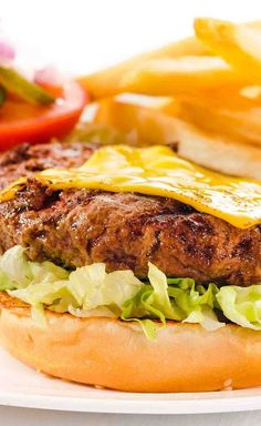 House Specialty Char Grilled Cheeseburger:  8oz 100% chuck steak ground in house